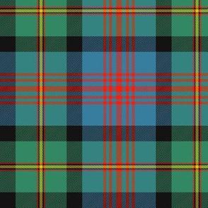 "Logan or MacLennan tartan, traditional 5-stripe, 6"" ancient"