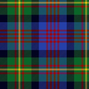 "Logan or MacLennan tartan 4-stripe variant, 6"" bright"
