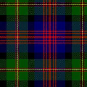 "Logan or MacLennan tartan, traditional 5-stripe, 6"" dark"
