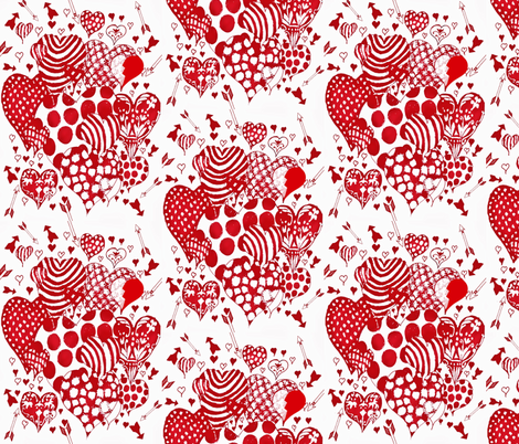 Hit and Miss Hearts fabric by katawampus on Spoonflower - custom fabric