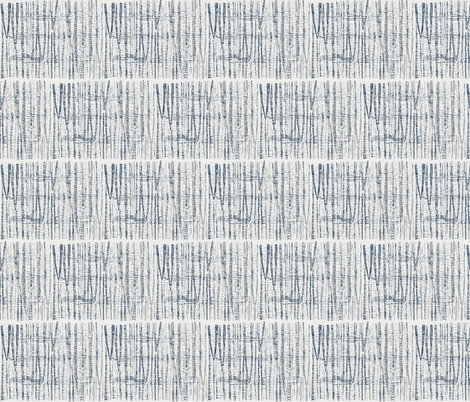 Abstract Woodland Landscape in Blue and Gray fabric by kendrashedenhelm on Spoonflower - custom fabric