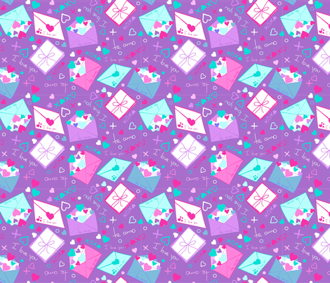 Love Letter fabric by lauhernandez on Spoonflower - custom fabric