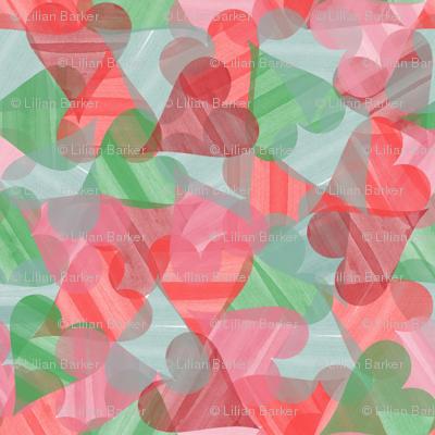 Watercolour Hearts