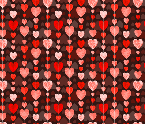 string of hearts fabric by lucyconway on Spoonflower - custom fabric