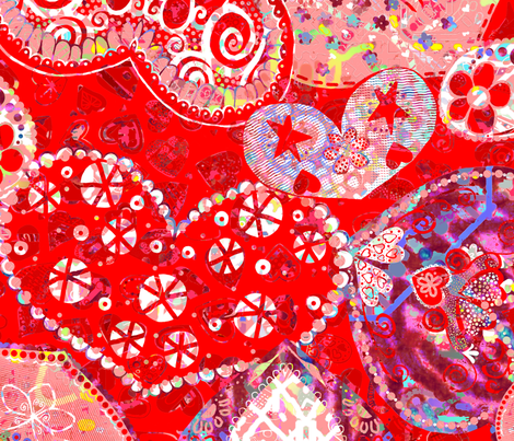 Valentines 2019: Valentine Scatter fabric by tallulahdahling on Spoonflower - custom fabric