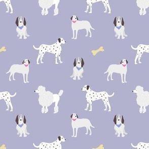 dog print purple