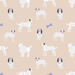 dog print taupe