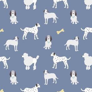 dog print navy