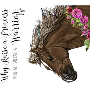 "9""x12"" inside a 10""x13"" Why Raise a Princess Horse Print"