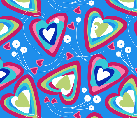 Have A Heart-01 fabric by marti_betz_design on Spoonflower - custom fabric