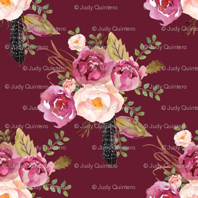 """8"""" Hello Beautiful Dark Pink Flowers - Darkest Pink"""