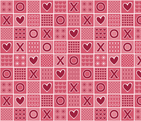 Hugs and Kisses (Classic) fabric by brendazapotosky on Spoonflower - custom fabric