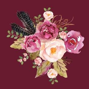 """8"""" Hello Beautiful Dark Pink Flowers Version 2 Darkest Pink"""