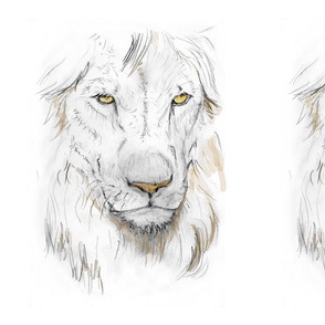 Custom Lion portrait tinted1
