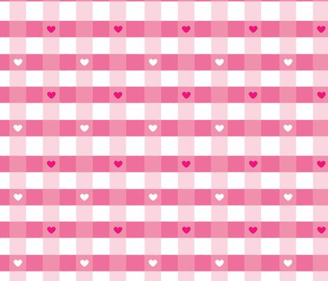 heart-check fabric by rowdy1 on Spoonflower - custom fabric