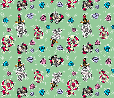 Feminist AF fabric by anobledesigner on Spoonflower - custom fabric