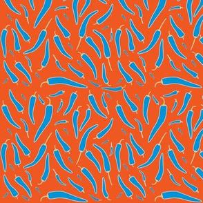Chilli on acid - blue on orange
