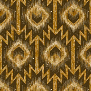 boho aztec arrow feather golden brown
