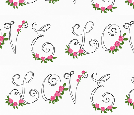 lovely love  fabric by proverbs31girl on Spoonflower - custom fabric