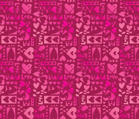 Love, Love, Love fabric by twohanddesign on Spoonflower - custom fabric