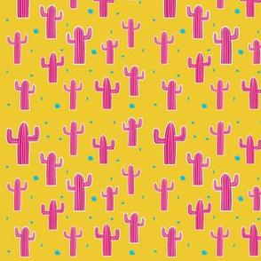 Cactus on acid - Pink on mustard