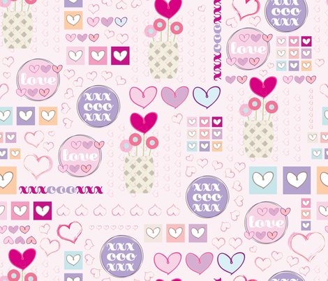 Love_SF fabric by celebratethisandthat on Spoonflower - custom fabric
