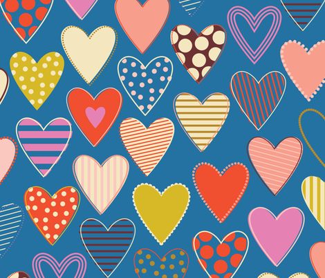 Love All Around - Happy fabric by katerhees on Spoonflower - custom fabric