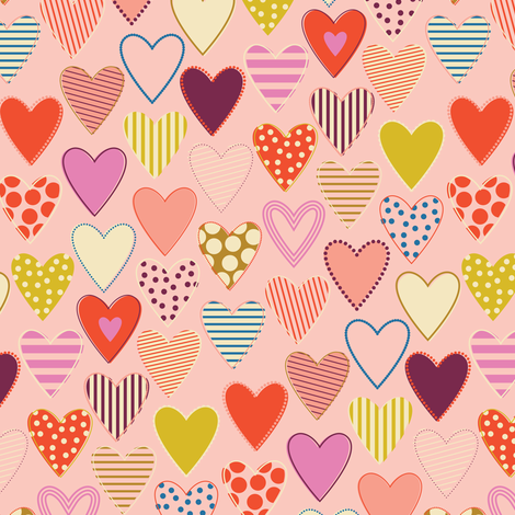 Love All Around - Nude fabric by katerhees on Spoonflower - custom fabric