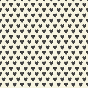 Black and Cream Hearts - Extra Small