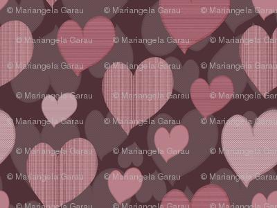 Texture hearts pattern