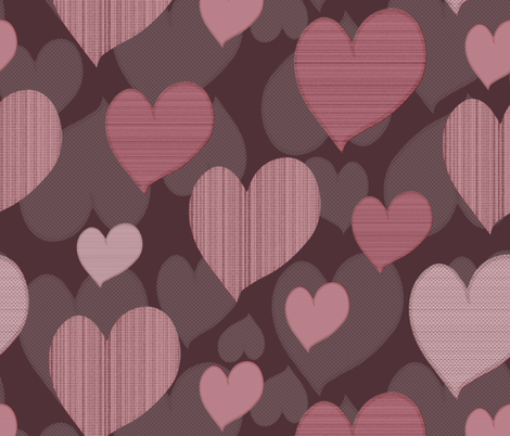 Texture hearts pattern fabric by maredesigns on Spoonflower - custom fabric