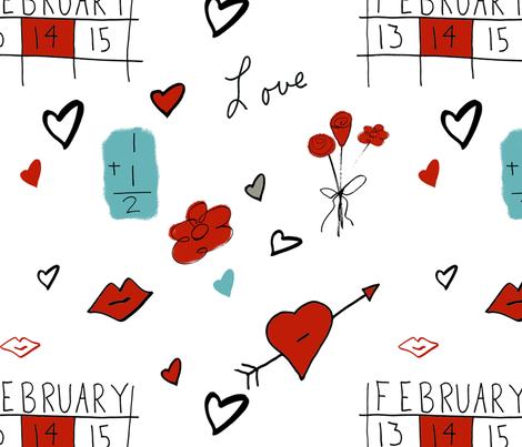 Love Doodles fabric by inkykindofday on Spoonflower - custom fabric
