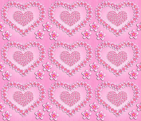Flower Hearts fabric by hiirikki on Spoonflower - custom fabric