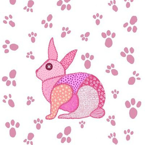 cute pink rabbit