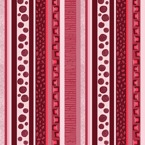ethnic red stripes