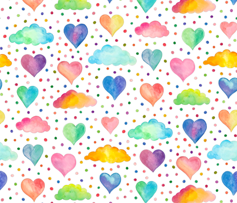 Dreamy Valentines fabric by gcave on Spoonflower - custom fabric
