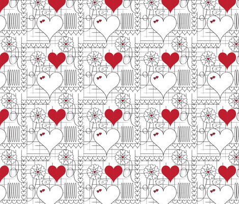 Hearts and Things fabric by whyitsme_design on Spoonflower - custom fabric