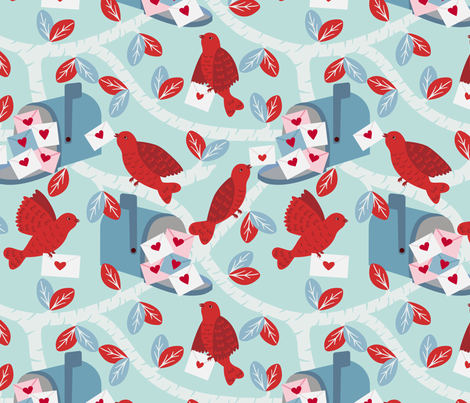 Valentine Delivery fabric by jennifer_holbrook on Spoonflower - custom fabric