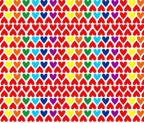 Simply Hearts fabric by bastcatcreative on Spoonflower - custom fabric