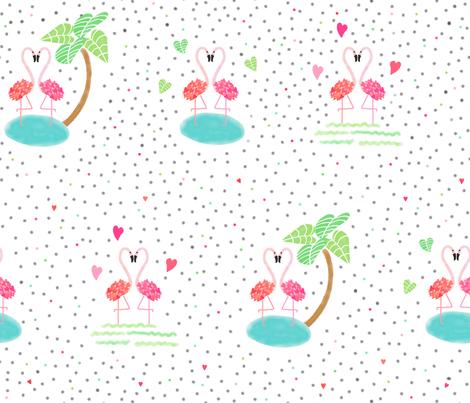valentine flamingle fabric by kelsi_designs on Spoonflower - custom fabric