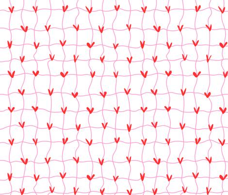 Wavy Valentines fabric by goatfeatherfarm on Spoonflower - custom fabric
