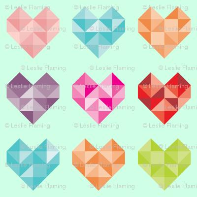 Geometric Candy Hearts