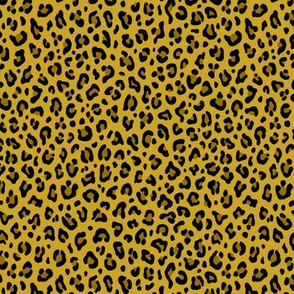 ★ LEOPARD PRINT in MUSTARD YELLOW ★ Tiny Scale / Collection : Leopard spots – Punk Rock Animal Print