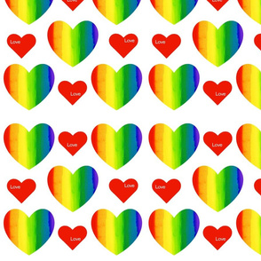 Rainbow Hearts with Love