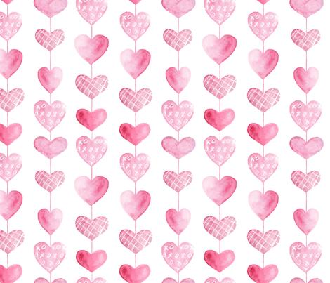 Heart Strings fabric by snowflower on Spoonflower - custom fabric