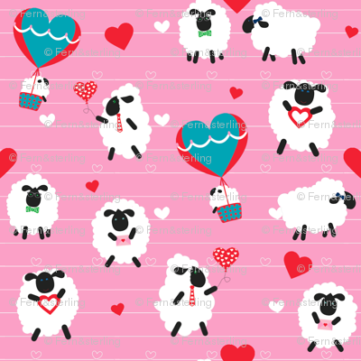 FS I Love Ewe Valentine Sheep