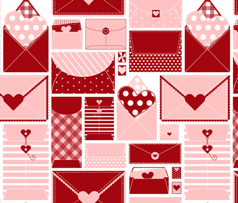 Special De-love-ry fabric by nanshizzle on Spoonflower - custom fabric