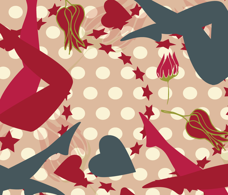 Modern Sexy Pin Up fabric by dreambigdigitaldesign on Spoonflower - custom fabric