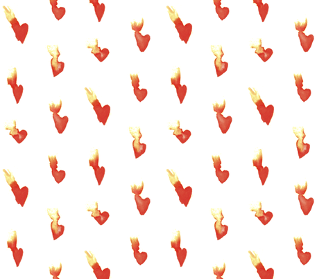 Hearts on Fire fabric by autumn_musick on Spoonflower - custom fabric