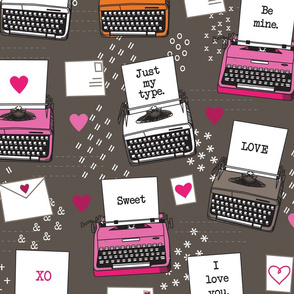 Just My Type Valentines Typewriters